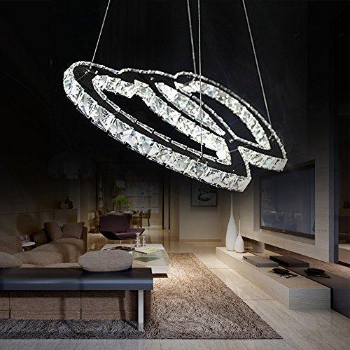 Kjlars lusso moderno lampadario di cristallo a led lampada a sospensione lampada a sospensione - Amazon lampadario camera da letto ...