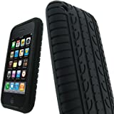 SKS Distribution� BLACK TYRE TREAD SILICONE GEL CASE COVER FOR APPLE IPHONE 3G / 3GS