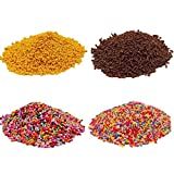 7 COLOR WINGS Fake Schokolade Donuts mit Sprinkles Colorful Fake Candy Sweets Sugar Sprinkles Decorations for Fake Cake Dessert Simulation Food (70G)