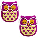 Ascension ® Owl LED Plug In Night Light For Kids- Wall Lamp Take Good Care Children Sleep Light Sensor Auto Controlled Nightlights For Baby Nursing Kids Favourite Birthday & Party Return Gifts (Purple) (Set Of 2)