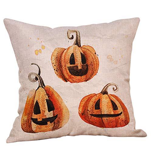HARRYSTORE Halloween Kissenbezüge Leinen Sofa Kürbis Geister Kissenbezug Home DecorHalloween Pillow Cases Linen Sofa Pumpkin Ghosts Cushion Cover Home Decor