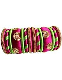 Silk Thread Bangel Grand Wedding Silk Thread Bangle Set For Women / Girls BY Multiline Company