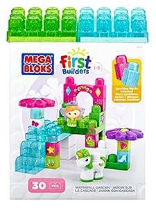 Mega Bloks - 80455 - Jeu De Construction - First Builders Lil'Princess - Le Jardin Avec Cascade - 30 Pièces
