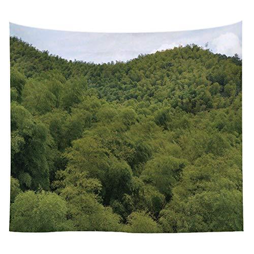 jtxqe Panno Appeso a Parete in bambù Fresco arazzo Foresta 9 150 * 150 cm
