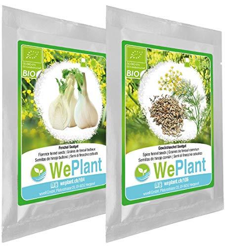 BIO Fenchel & Gewürzfenchel Pflanzen-Samen Set - indoor/outdoor
