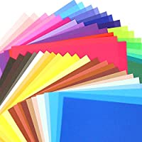 Biging 100 Sheets 50 Vivid Colours Origami Paper
