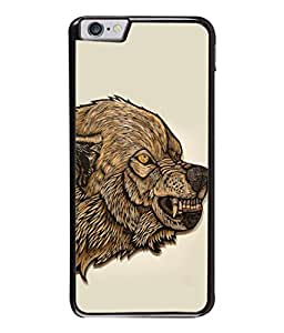 PrintVisa Designer Back Case Cover for Apple iPhone 6 (Fancy doggi Teeth angry white brown)