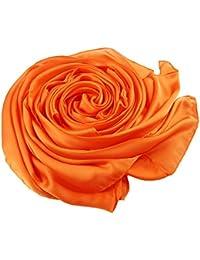 af91c324a31a ACMEDE Echarpe Foulard Long Doux Elegant En Soie Coton Cou Wrap Chale Pour  Femme Ete Hiver