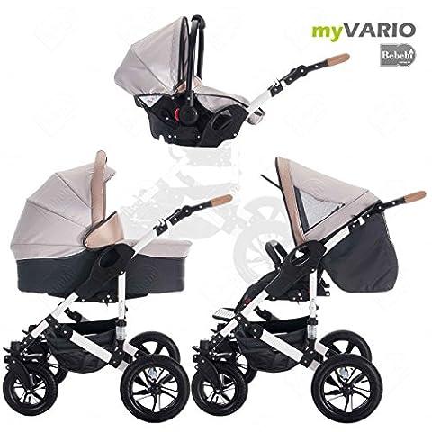 bebebi | modèle myvario | 3en 1Combi Poussette | Pneu
