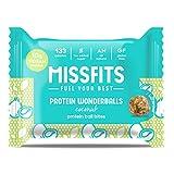 MISSFITS Vegan Protein Wonderballs - Protein Ball Bites Snack - No Added Sugar, All Natural, Great Tasting - Coconut (12 x 35g Packs)