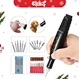 ARTISTORE Elektro Gravur Pen Pen Polish Carving Combo Set Einstellbare Rotating Speed Carve Werkzeug mit 6X Stahl Carving Kopf für DIY Olive Core, Buddha Perlen, Elfenbein, Holz