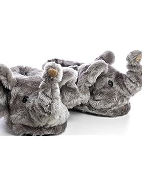 Sleeper'z – Elefante – Zapatillas de casa animales originales y divertidas – Adultos y Niños - Hombre y Mujer