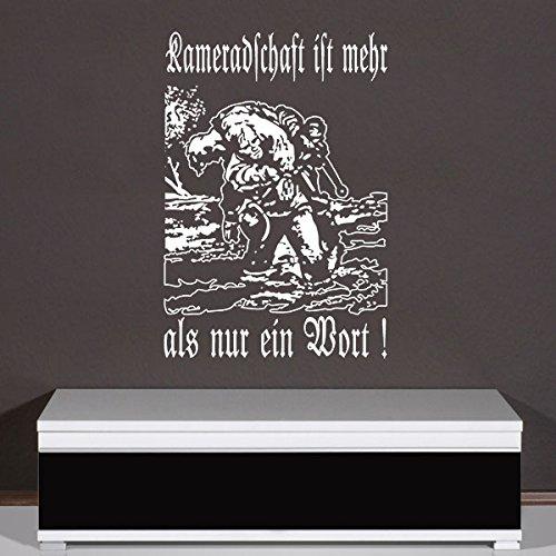 Wandtattoo - Kameradschaft ist mehr als nur EIN Wort Kameraden Soldaten Bundeswehr Veteran WH Deko 45x66cm #A3685