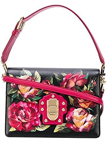 Dolce E Gabbana Women's Bb6350ab979hne10 Black/Pink Leather Shoulder