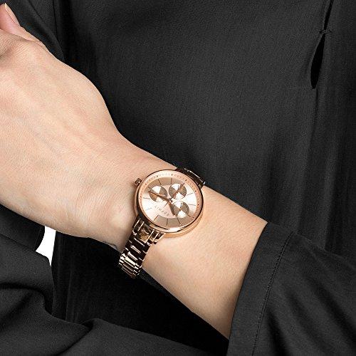 Esprit Damen-Armbanduhr Melanie Analog Quarz Edelstahl beschichtet ES108152003 - 5