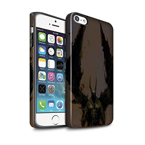 Offiziell Chris Cold Hülle / Matte Harten Stoßfest Case für Apple iPhone 5/5S / Raubtier/Jäger Muster / Wilden Kreaturen Kollektion Teufel/Tier