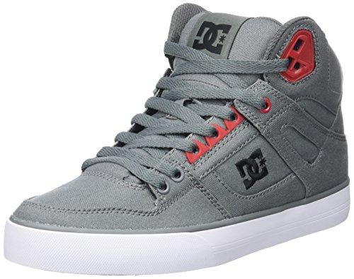 DC ShoesSpartan High Wc - Scarpe da Ginnastica Alte Uomo , grigio (Gris (Grey/Black/Red)), 38 EU