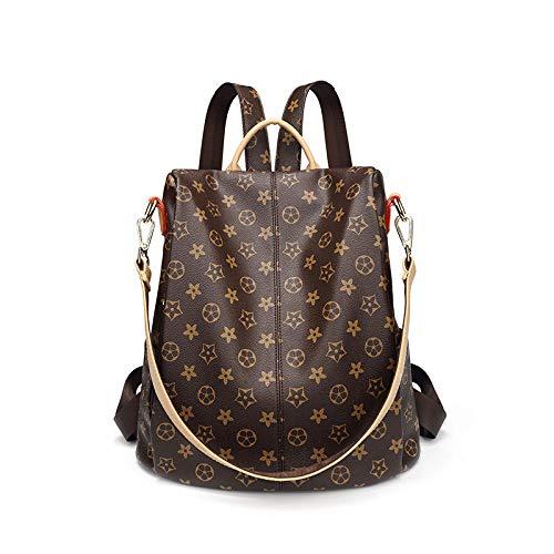 KERJK Lady bagsPrinted Damen Casual umhängetasche Mode Wilde weiche Ledertasche Leder weiblichen Beutel Big Bag, lammfell schwarz -