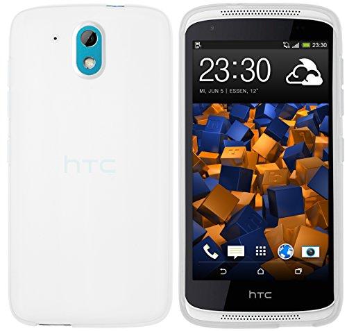 mumbi Schutzhülle HTC Desire 526G Hülle transparent Weiss