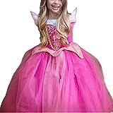 Kosplay Mädchen Prinzessin Kostüm Eiskönigin Kleid für Mädchen Schmetterling Karneval Verkleidung Party Cosplay Faschingskostüm Festkleid Weinachten Halloween Fest Kleid, Rot, Gr. 130