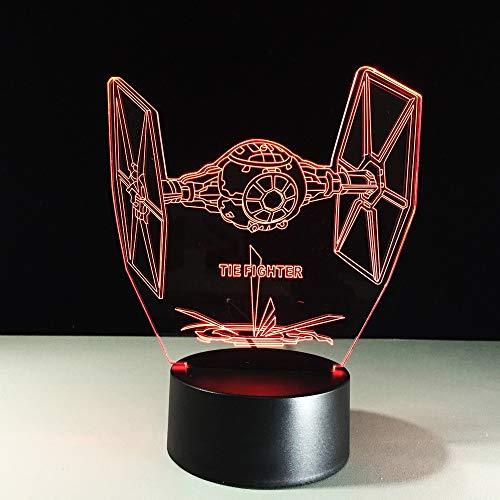 Kreative Star Wars Krawatte Kämpfer 3D Lampe Led Usb Vision Lampara Schreibtischlampe 7 Farben Ändern Baby Schlafen Nachtlicht Geschenke Dekor