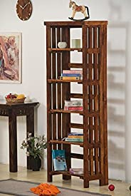 Keon Furniture Sheesham Wood Bookcases and Book Shelves for Living Room (Teak Finish)