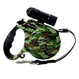 YuNo Retractable Dog Leash Lead with LED Light...