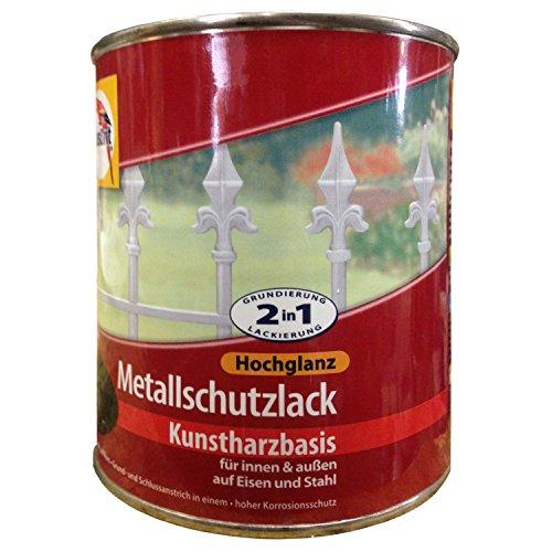 """Glasurit\""""Metallschutzlack Hochglanz\"""" - 0,75L (Weiß)"""