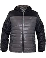 New Mens Kangol Designer Puffer Jacket Wind Breaker Hood Water Repellent Coat