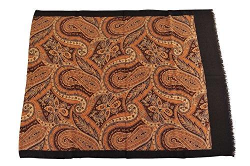 cesare-attolini-scarf-brown-cashmere-silk-168-cm-x-66-cm