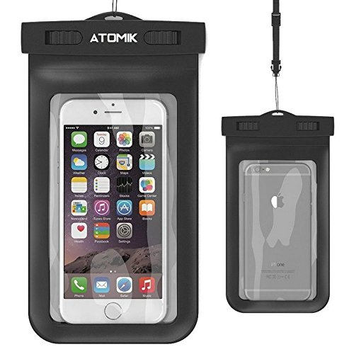 Atomik – Wasserdichte Handy-Schutzhülle, Universal Wasserdichte Tasche Dry Bag mit Umhängeband für Apple Iphone 5, 5s, 6, 6S, 6S Plus, 7, 7plus, SE 5S, Samsung S7 Edge, S6, Note 5, HTC LG Sony - Iphone Otterbox Fälle 5s