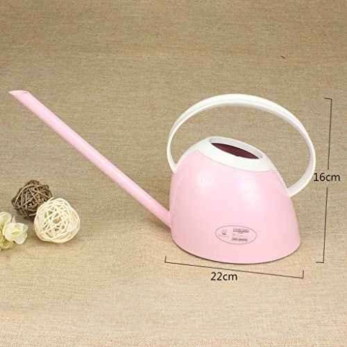 Arrosoirs Wddwarmhome Petite 1.1L ménage bouilloire PP en plastique bureau plantes en pot enfant pot (Couleur : Rose)