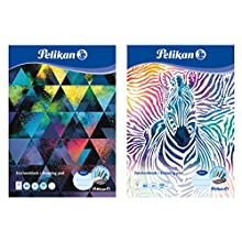 Pelikan 236799 - Blocco da disegno, formato A3, 20 fogli, motivi assortiti, 1 pezzo