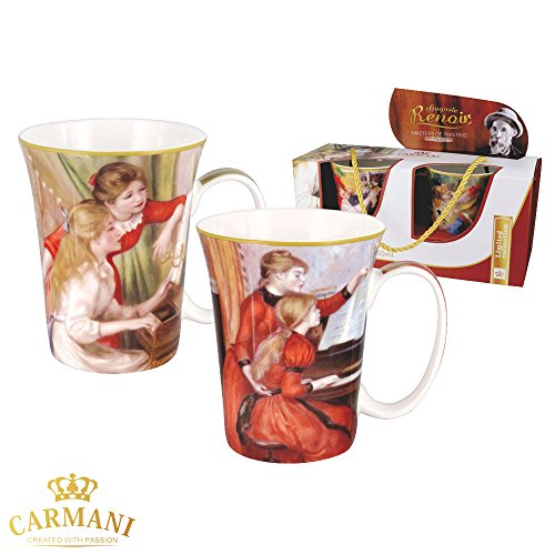 Carmani - tazza classico decorato con renoir pittura 380 ml