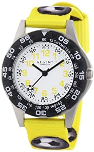 Regent Jungen-Armbanduhr Analog Quarz Textil 12400205