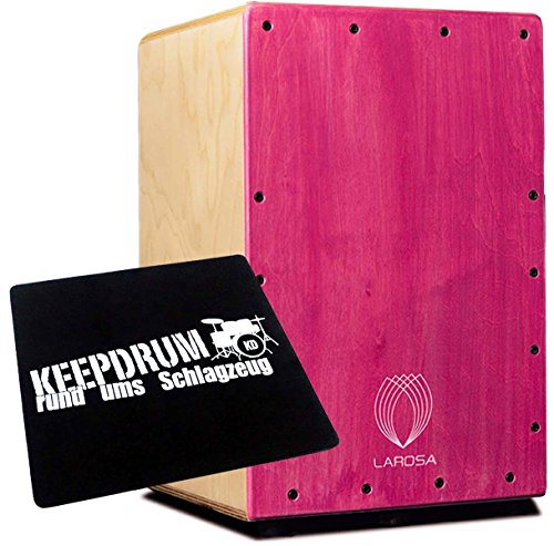 La rosa Basic Junior Pink Cajon sitzpad KEEPDRUM - Pink Junior Set