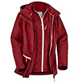 Fifty Five Damen 3-in-1 Jacke Doppeljacke Winterjacke Minaki Bay Rot 40 Outdoorjacke Winddicht Wasserdicht Atmungsaktiv