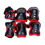 WINOMO 6pcs bébé Cyclisme Coude Coude crochets protéger couvercle Couverture (Noir + Rouge)