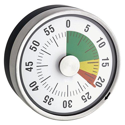 TimeTex Zeitdauer-Uhr Automatik Compact - Ampel-Scheibe - mit Magnet - zeigt Restzeit an - Durchmesser 78 mm - läuft ohne Batterien - 61967