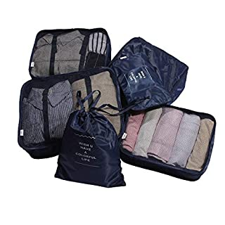 ANYU 6 Set Packing Cubes-Luggage Packing Organizers for Travel