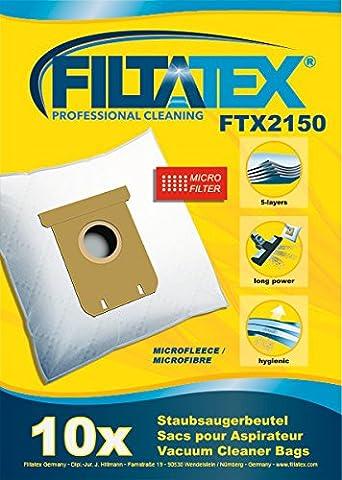 10 x FILTATEX sacs aspirateur Electrolux EL7085ADX / electrolux el 7085adx ultraone deluxe - electrolux ultraone deluxe el7085adx