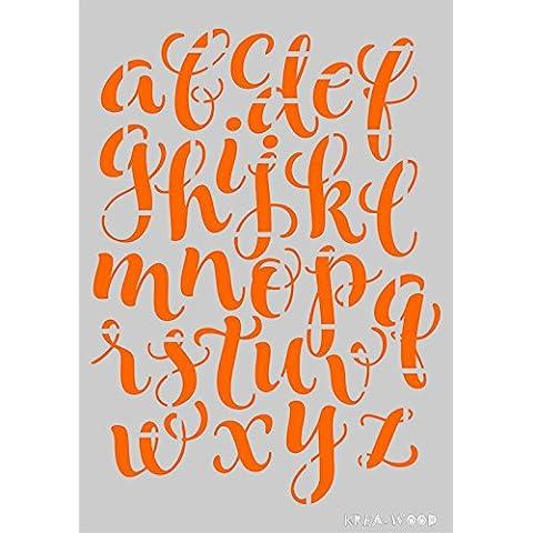Stencil Plantilla para DIY proyectos/Escrito letras diseño