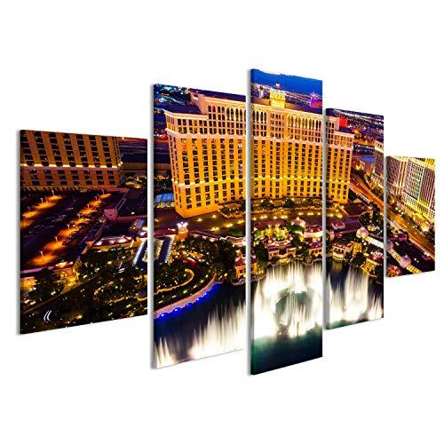 islandburner Bild Bilder auf Leinwand Las Vegas, USA - 14. August 2012: Musikalische Brunnen bei Bellagio Hotel und Casino. Das Bellagio w Wandbild, Poster, Leinwandbild JEX -