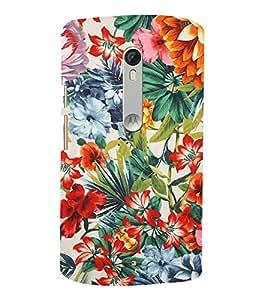 Floral Painting 3D Hard Polycarbonate Designer Back Case Cover for Motorola Moto G3 :: Motorola Moto G (3rd Gen)