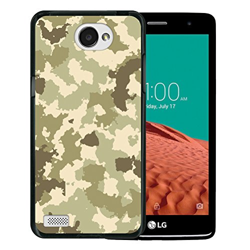 WoowCase LG X150 Bello 2 Hülle, Handyhülle Silikon für [ LG X150 Bello 2 ] Grüne Militärtarnung Handytasche Handy Cover Case Schutzhülle Flexible TPU - Schwarz
