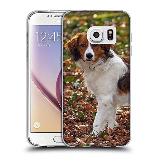 Super Galaxy Schutz Hülle TPU Case Schutzhülle Silikon Tasche Dünn Transparent // F00027329 Kooikerhondje Hund auf den Blättern // Samsung Galaxy S7 (Not Fit S7 EDGE) (Hunde Kooikerhondje)