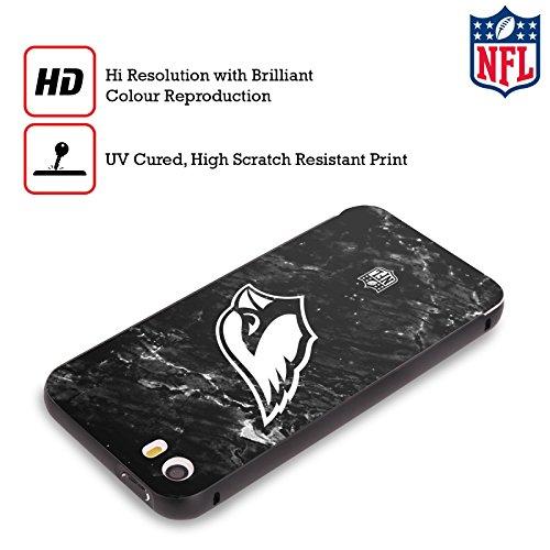 Ufficiale NFL Pattern 2017/18 Arizona Cardinals Nero Cover Contorno con Bumper in Alluminio per Apple iPhone 6 Plus / 6s Plus Marmo