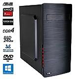 SNOGARD OfficeLine PC | AMD A6-9500 | 8GB DDR4 | 240GB SSD | Radeon R5 | W10Pro | Desktop Komplett System | Multimedia und Internet Computer