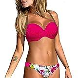 8da7232728ba Rawdah_ Sexy Bikini Donna Mare Push up, 2pcs Bendare Pizzo-Applique Costume  da Bagno