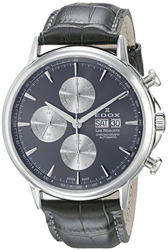 Edox Les Bémonts montre homme chronographe automatique 01120 3 GIN